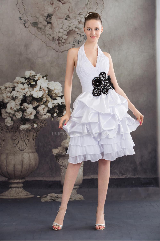fe288ddbf3246 Black And White Halter Neck Wedding Dresses - raveitsafe