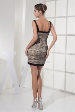 Sheath/Column V-Neck Ruched Sleeveless Little Black Dresses 02021079