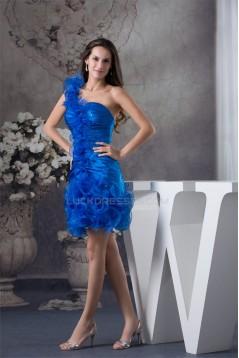 Sheath/Column Sleeveless Organza Silk like Satin Prom/Formal Evening Dresses 02021151