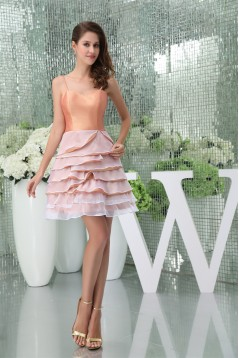 Short/Mini Spaghetti Straps Sheath/Column Prom/Formal Evening Dresses 02021188