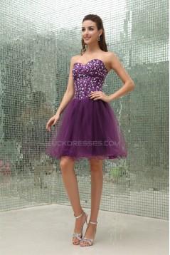 A-Line Beaded Fine Netting Sleeveless Prom/Formal Evening Dresses 02021194