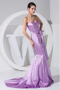 Trumpet/Mermaid Sweetheart Brush Sweep Train Long Prom/Formal Evening Dresses 02020123