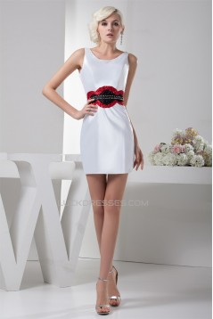 Beading Portrait Sleeveless Short/Mini Prom/Formal Evening Dresses 02021290