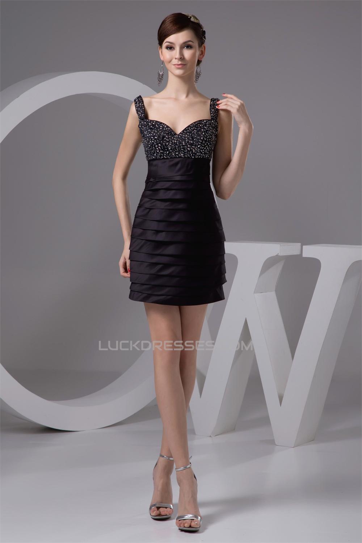 Beading Sheath/Column Short/Mini Black Prom/Formal Evening Dresses ...