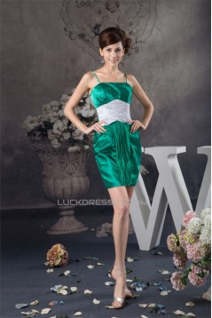 Short/Mini Sleeveless Chiffon Silk like Satin Prom/Formal Evening Dresses 02021393