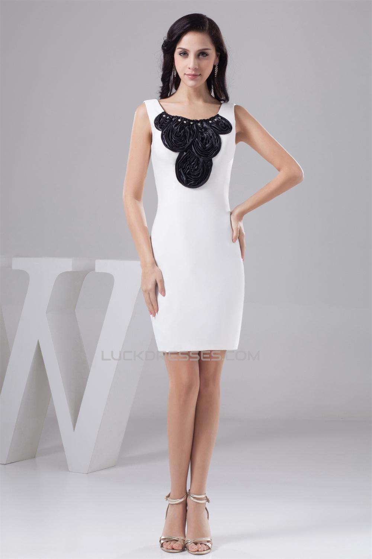 Sleeveless Beading Silk Like Satin Spandex Best Bridesmaid
