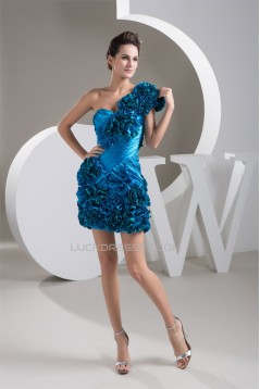 Sleeveless One-Shoulder Sheath/Column Ruffles Prom/Formal Evening Dresses 02021411