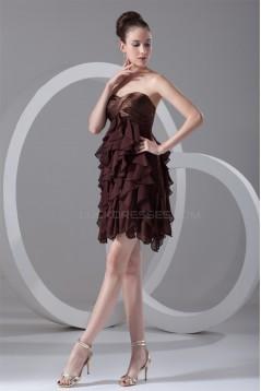 Cascading Ruffles Short/Mini A-Line Sleeveless Prom/Formal Evening Dresses 02021458