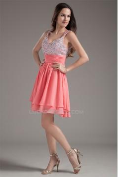 Chiffon Silk like Satin Sleeveless Short/Mini Prom/Formal Evening Dresses 02021467