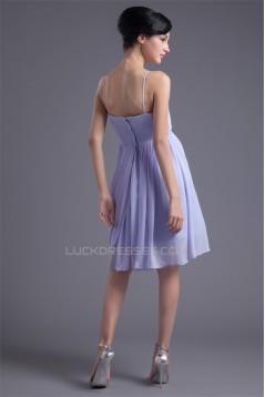 Pleats A-Line Spaghetti Straps Knee-Length Prom/Formal Evening Bridesmaid Dresses 02021487