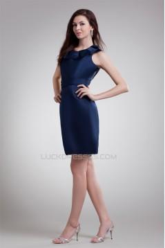 Satin Sleeveless Turndown Collar Scoop Sheath/Column Prom/Formal Evening Dresses 02021492