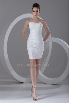 Short/Mini Taffeta Sheath/Column Sleeveless Prom/Formal Evening Dresses 02021517