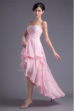 Sleeveless A-Line Chiffon Silk like Satin Prom/Formal Evening Dresses 02021519