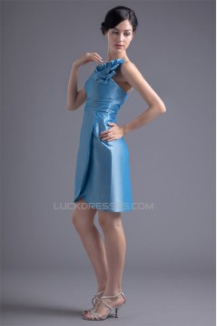 Sleeveless Taffeta Falbala Sheath/Column Prom/Formal Evening Bridesmaid Dresses 02021536