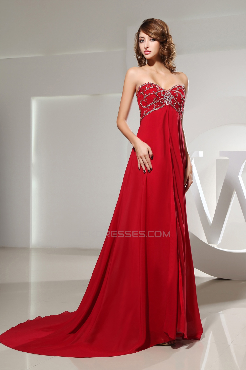 Line empire beaded long red chiffon promformal evening maternity a line empire beaded long red chiffon promformal evening maternity dresses 02020159 ombrellifo Image collections