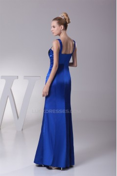Floor-Length Beading Silk like Satin Mermaid/Trumpet Long Evening Bridesmaid Dresses 02020183