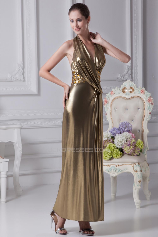 bf836df71ad4 Halter Sleeveless Sheath/Column Ankle-Length Prom/Formal Evening Dresses  02020207