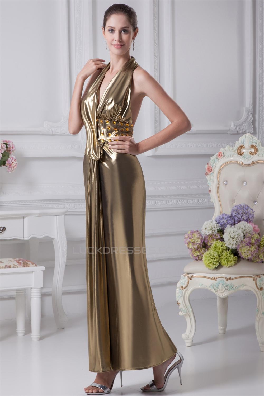 2f378fa5887f Halter Sleeveless Sheath/Column Ankle-Length Prom/Formal Evening ...