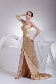 Silk like Satin Sheath/Column One-Shoulder Prom/Formal Evening Dresses 02020317