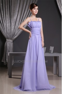 A-Line Spaghetti Strap Long Chifffon Prom/Formal Evening Bridesmaid Dresses 02020345