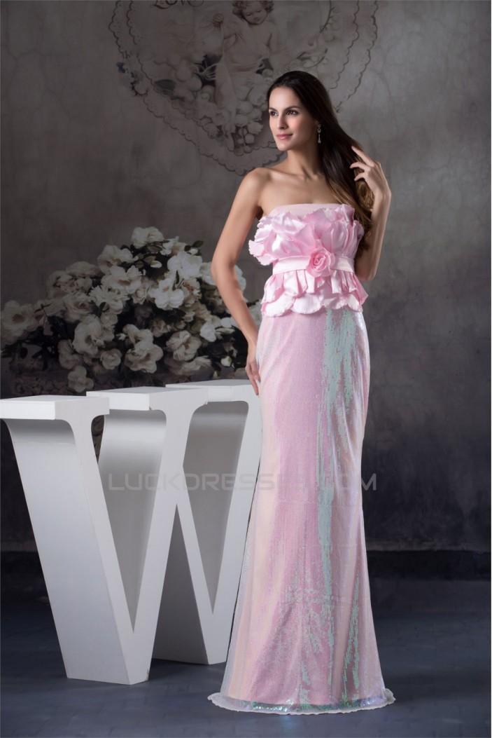 Strapless Mermaid/Trumpet Sleeveless Sequins Materinal Prom Evening Formal Dresses 02020407