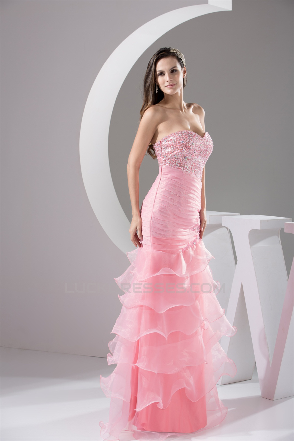 Trumpet/Mermaid Sweetheart Floor-Length Beading Prom