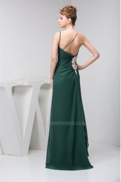 Sheath/Column Spaghetti Straps Brush Sweep Train Prom Evening Bridesmaid Dresses 02020463