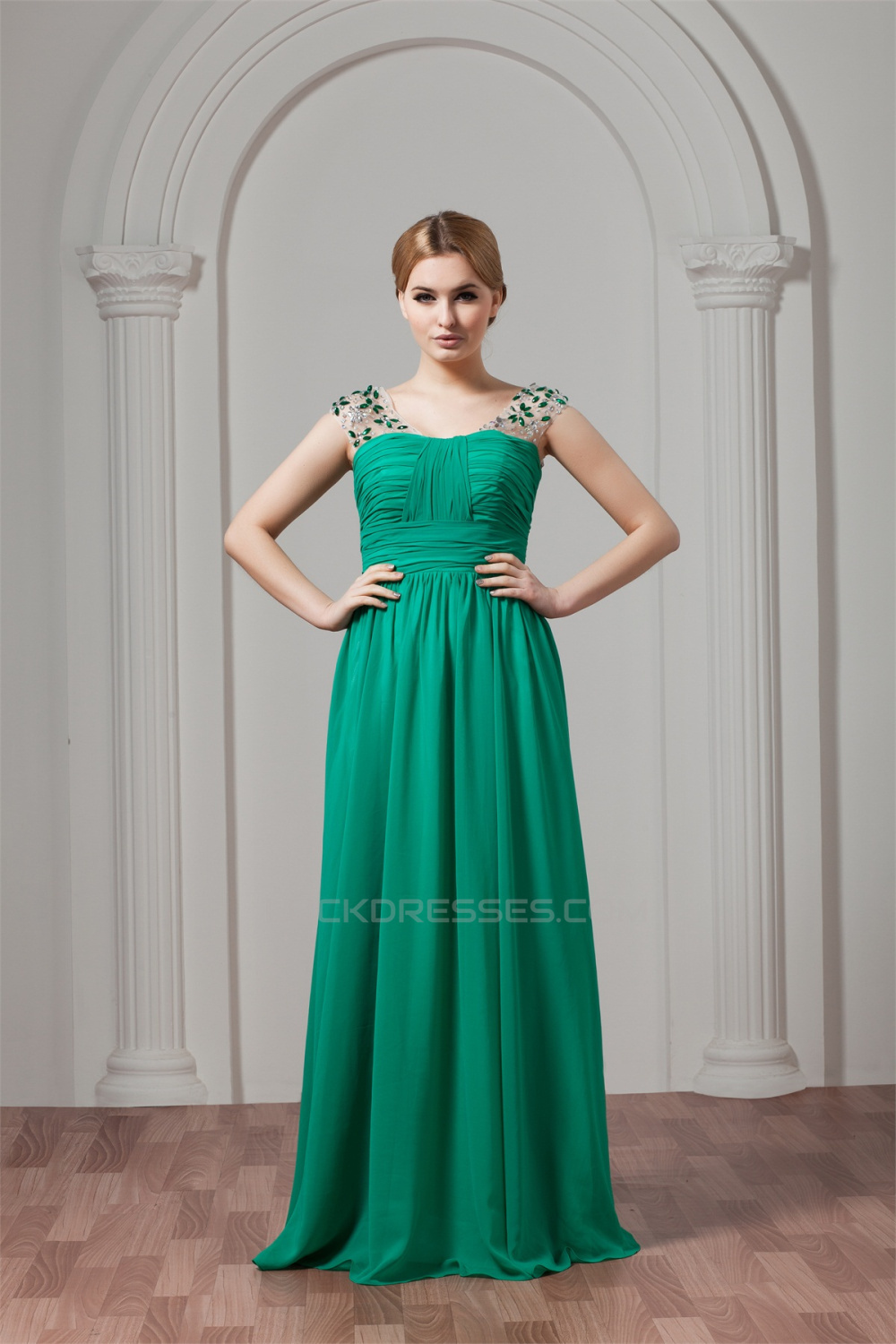 Floor-Length Chiffon Plus Size Prom/Formal Evening Dresses 02020517
