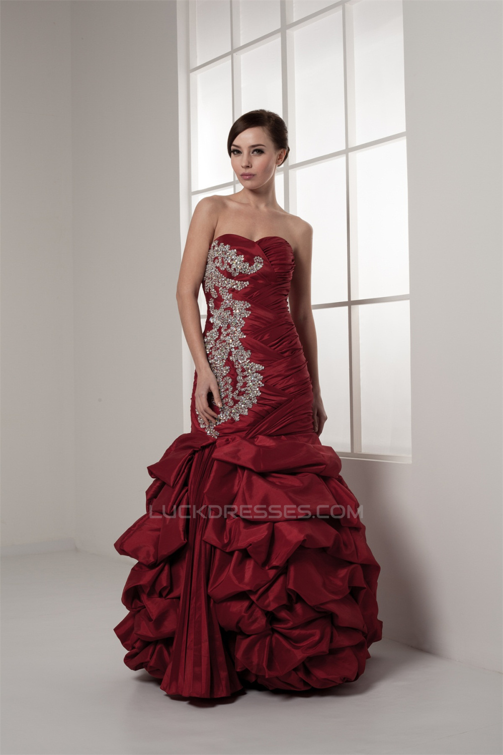 Sleeveless Floor-Length Sweetheart Mermaid/Trumpet Prom/Formal ...