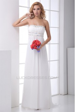 A-Line Strapless Beading Sleeveless Brush Sweep Train Prom/Formal Evening Dresses 02020633