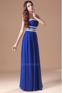 Beading Chiffon Silk like Satin Floor-Length Prom/Formal Evening Dresses 02020656