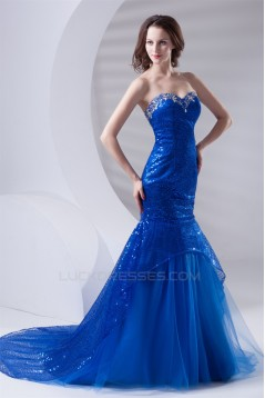 Beading Sleeveless Mermaid/Trumpet Sweetheart Sequins Prom/Formal Evening Dresses 02020675