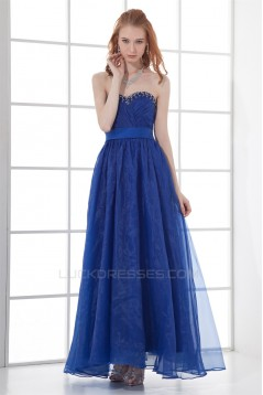 Beading Sweetheart Ankle-Length A-Line Satin Organza Prom/Formal Evening Dresses 02020683