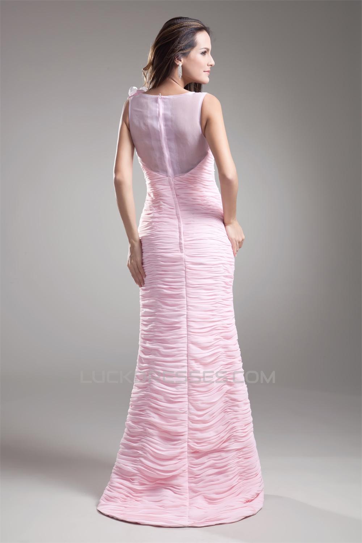 Chiffon Organza Silk Like Satin Handmade Flowers Prom