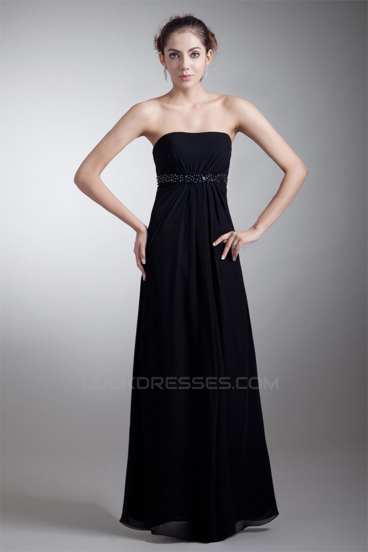 Floor Length Beading Sleeveless Sheath Column Prom Formal