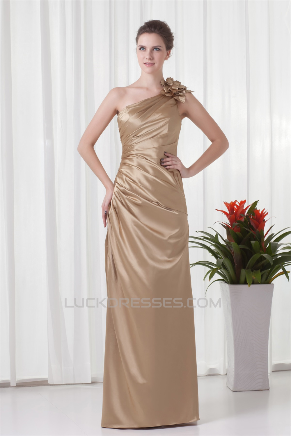 Buy Satin Woven bridesmaid homecoming dresses picture trends