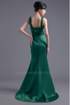Mermaid/Trumpet Puddle Train V-Neck Sleeveless Prom/Formal Evening Bridesmaid Dresses 02020777