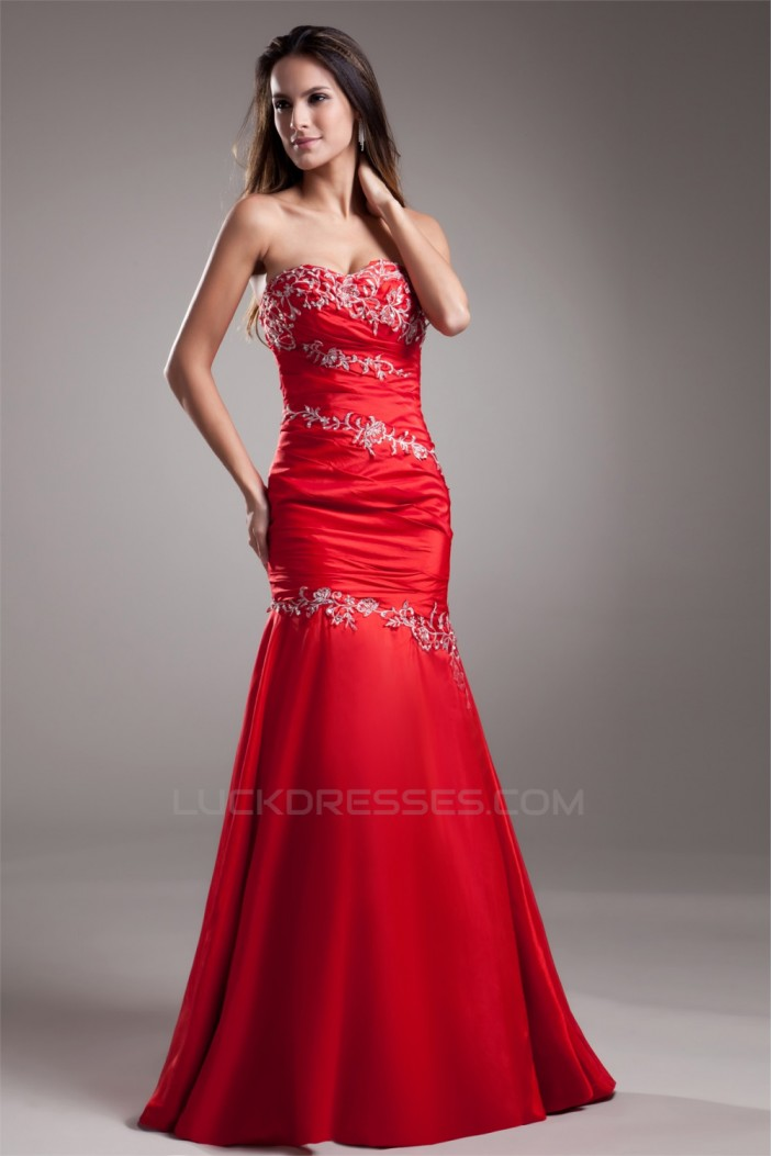 Mermaid/Trumpet Sequins Sweetheart Satin Prom/Formal Evening Dresses 02020830