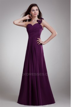 A-Line Draped Floor-Length One-Shoulder Prom/Formal Evening Bridesmaid Dresses 02020889
