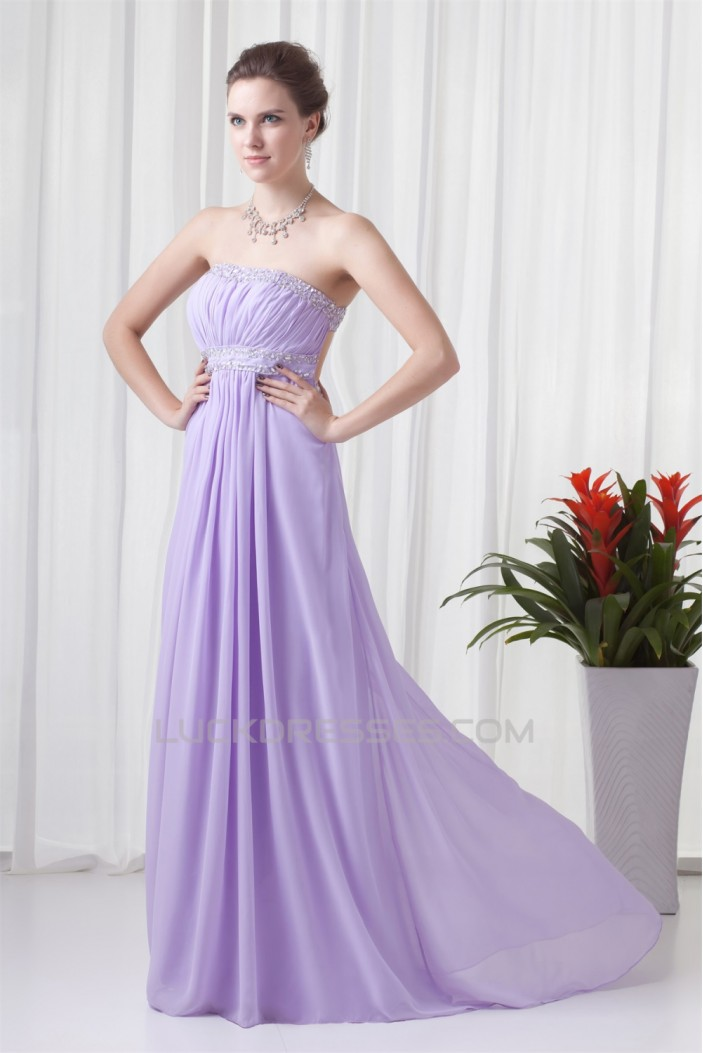 Strapless Sleeveless Floor-Length Sheath/Column Prom ...