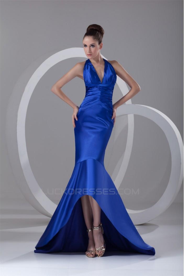 Trumpet/Mermaid Long Blue Prom/Formal Evening Dresses 02020936