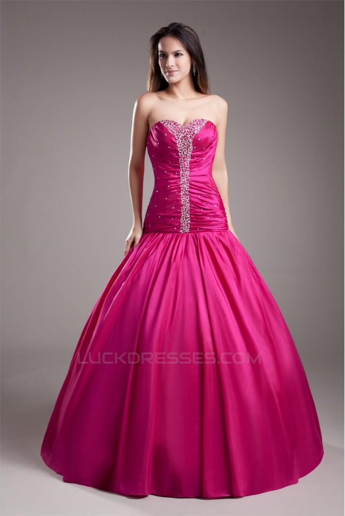 Taffeta Beading Sleeveless Floor-Length Prom/Formal Evening Dresses ...