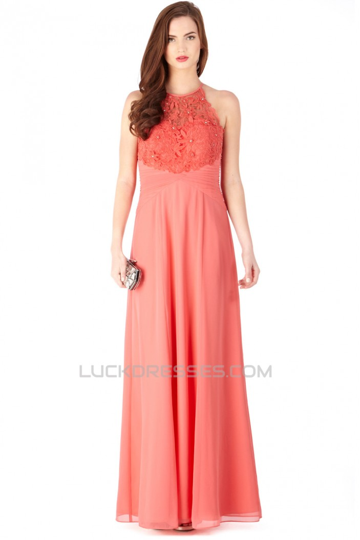 Sheath/Column Lace Chiffon Long Prom Evening Party Bridesmaid Dresses 02020967