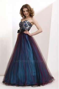 A-Line Sweetheart Long Prom Evening Party Dresses 02020974