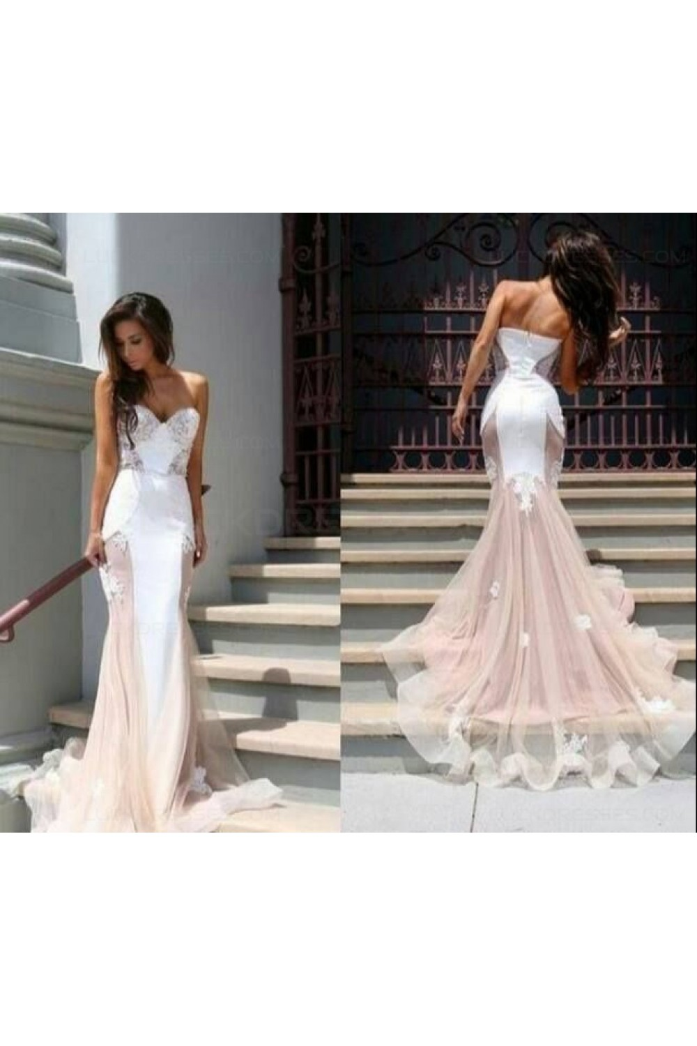 Trumpet/Mermaid Sweetheart Lace Long Prom Evening Formal ...
