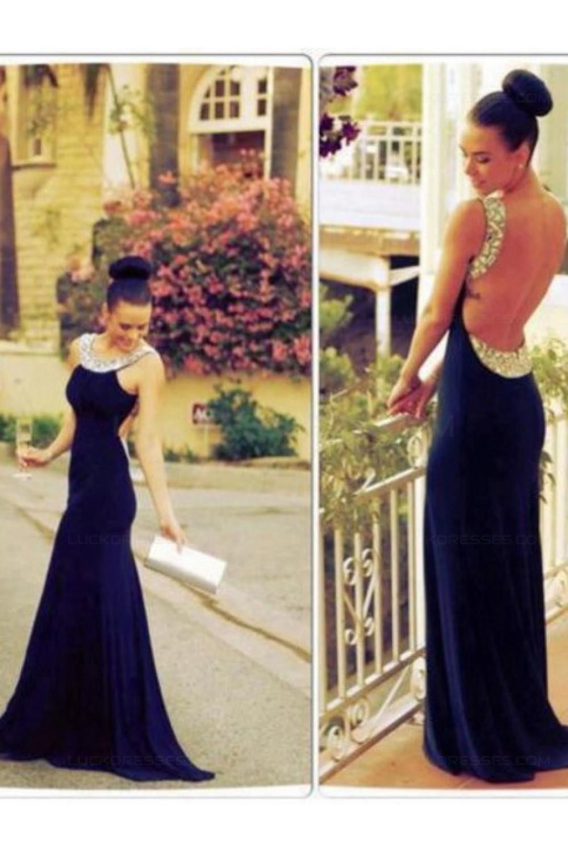 long black backless beaded prom evening formal dresses 3020057