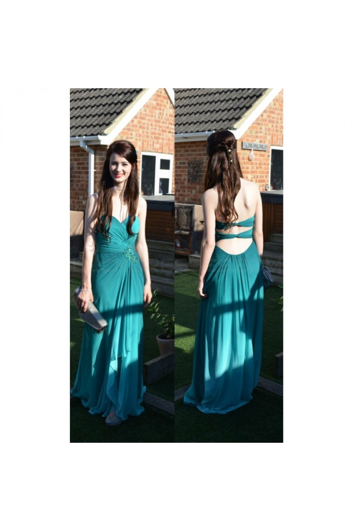 Long Sweetheart Chiffon Prom Formal Evening Party Dresses 3021103