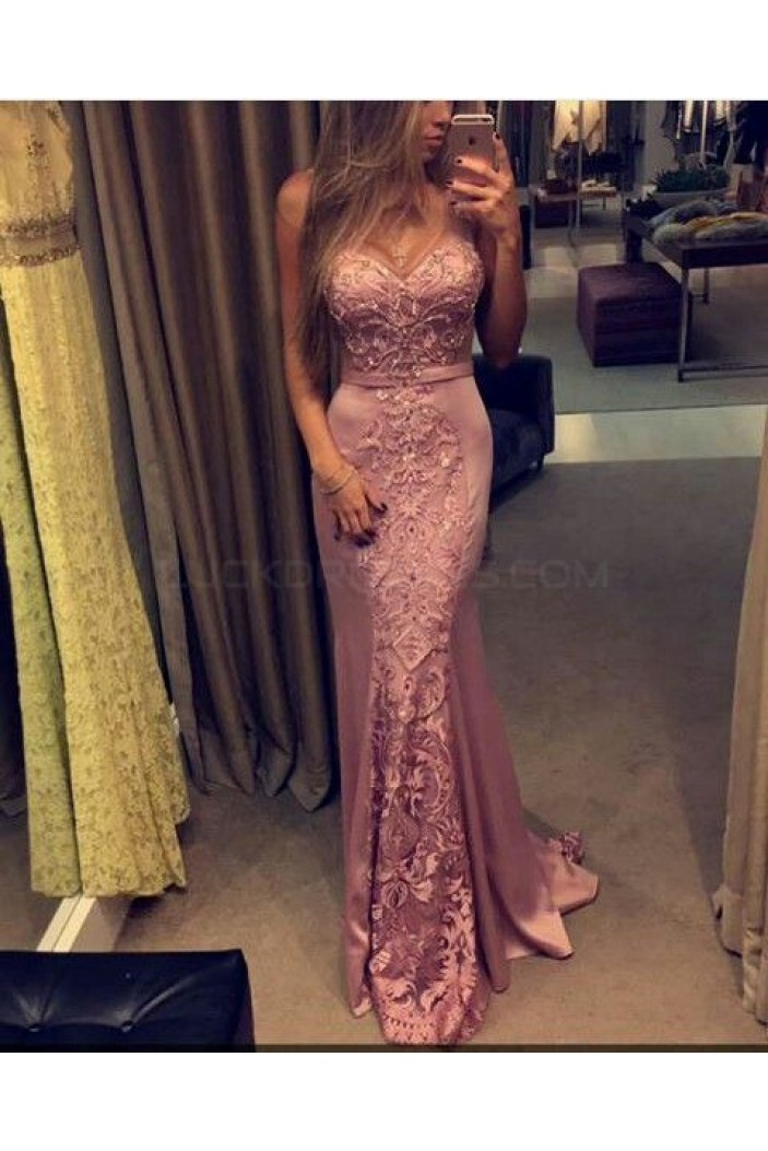 Mermaid Sweetheart Lace Long Prom Formal Evening Party Dresses 3021316