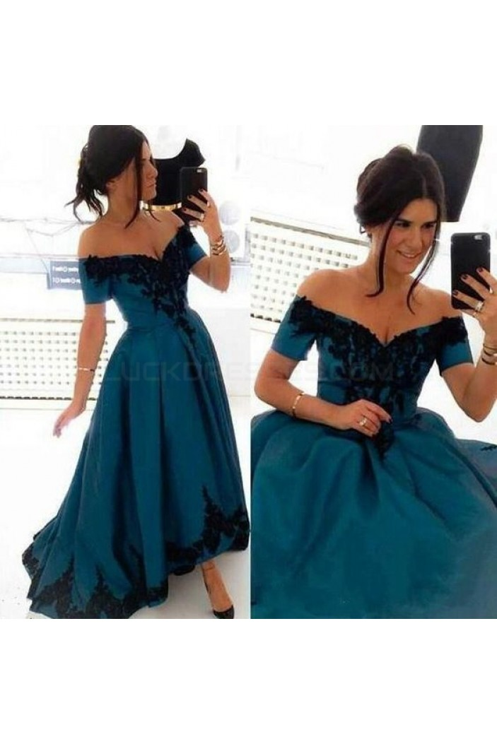 High Low Off-the-Shoulder Lace Prom Formal Evening Party Dresses 3021392