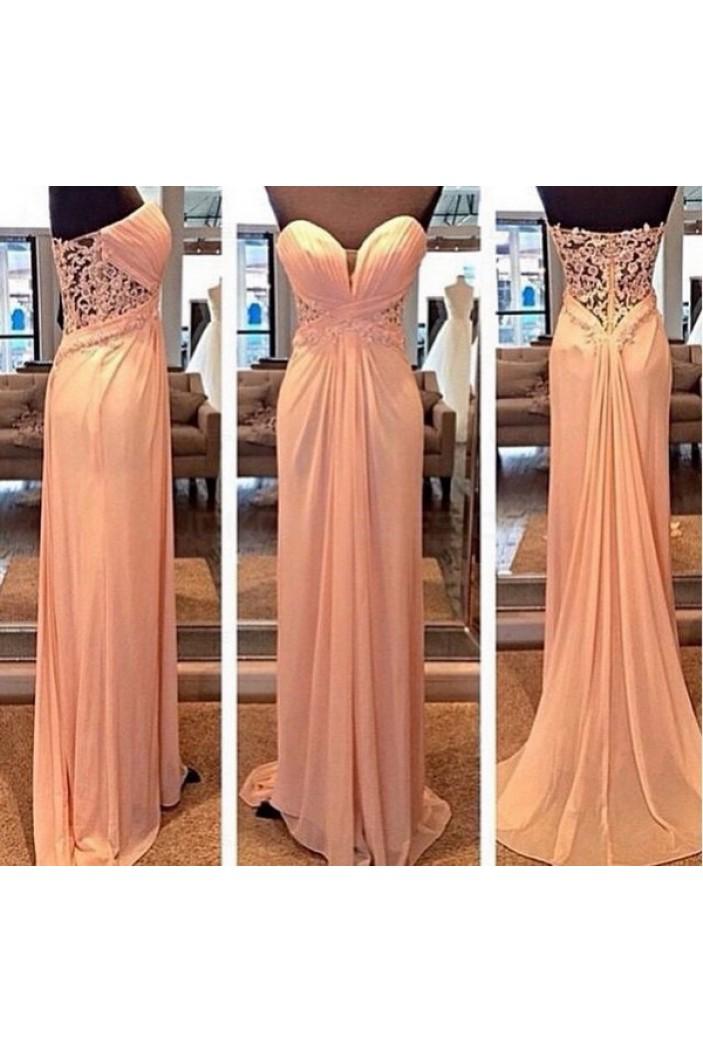 Sheath/Column Sweetheart Long Prom Evening Formal Dresses 3020142